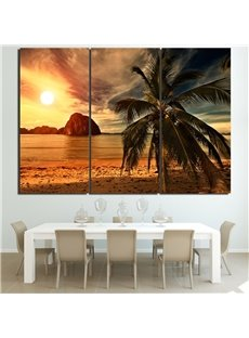 Twilight Pattern 3 Pieces Hanging Canvas Waterproof Eco-friendly Framed Wall Prints