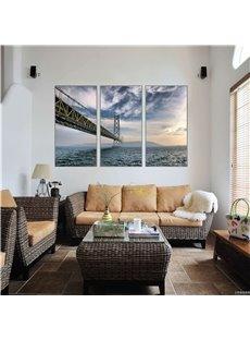 3 Pieces Bridge Pattern Hanging Canvas Waterproof Eco-friendly Framed Wall Prints