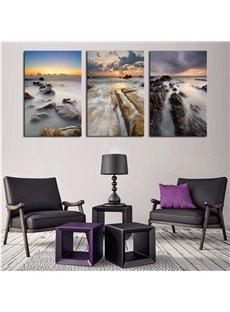 3 Pieces Dreamlike Scene Hanging Canvas Waterproof Eco-friendly Framed Wall Print