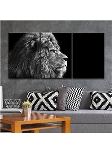 3 Pieces Vivid Lion Pattern Hanging Canvas Waterproof Eco-friendly Framed Wall Prints