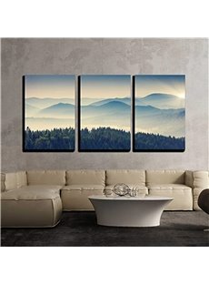 3 Pieces Cloud Sea Hanging Canvas Waterproof And Eco-friendly Framed Wall Prints