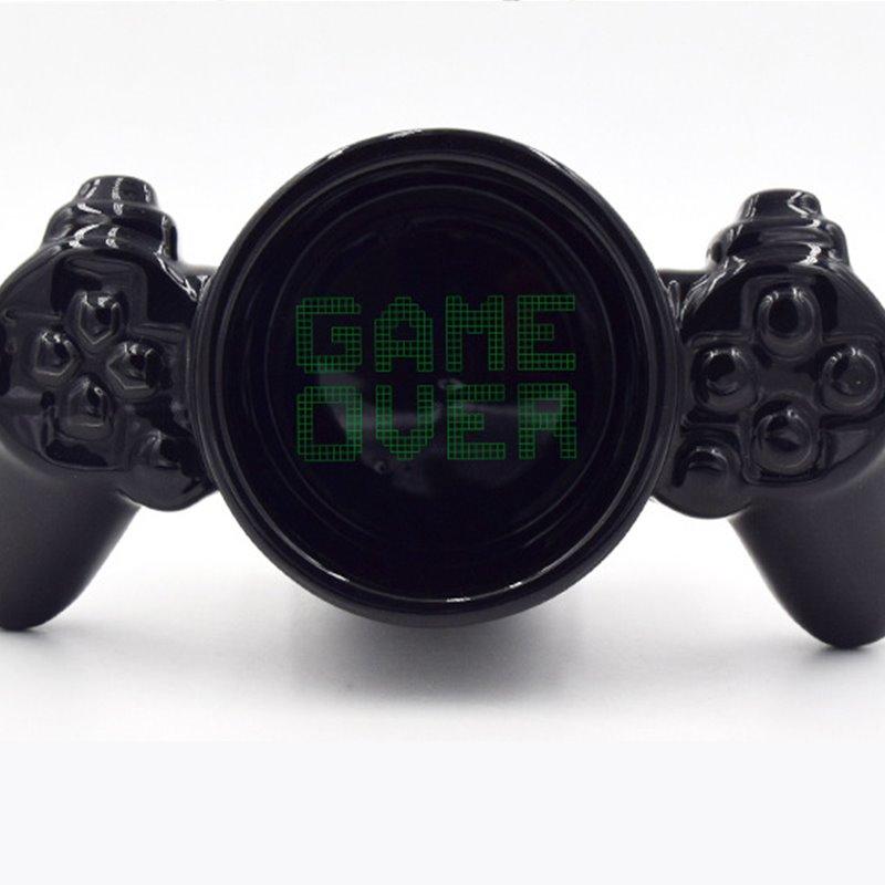 Game Over Ceramic Black Coffee Mug Funny Gift for Gamer