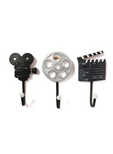 Retro Motion Picture Equipment Hook Resin Three Pieces Hook