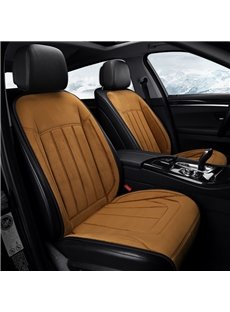 Business Style Heating Cushion Plain Suede Material Winter Seat Mat