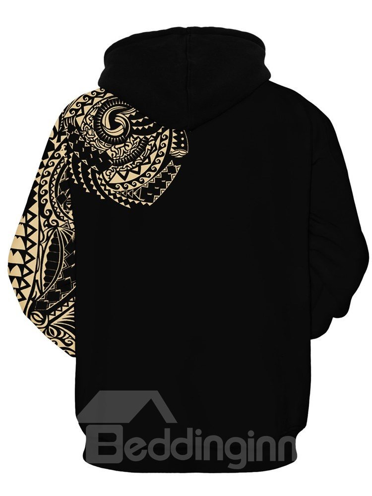 Pullover Lightweight Vibrant Color Unisex 3D Painted Hoodie