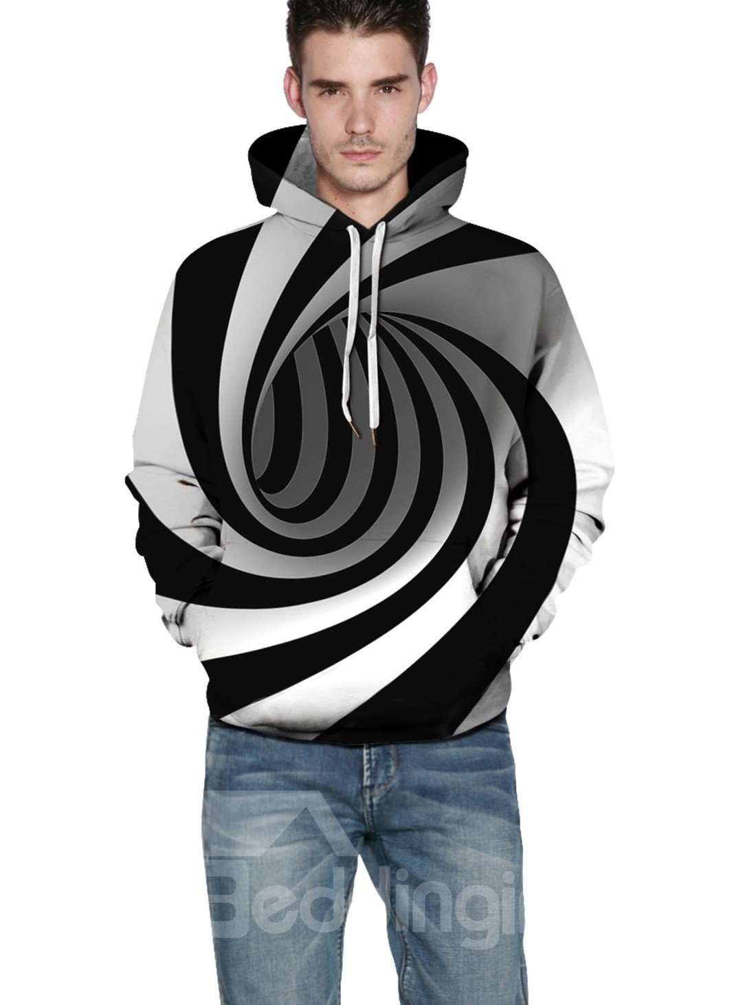 Funny Design Polyester Lightweight Workout 3D Painted Hoodie