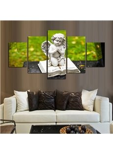 Angel Sculpture 5 Pieces Hanging Canvas Waterproof Eco-friendly Framed Wall Prints