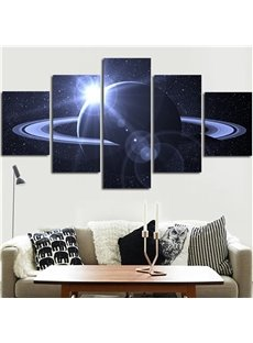5 Pieces Planet Pattern Hanging Canvas Waterproof Eco-friendly Framed Wall Prints