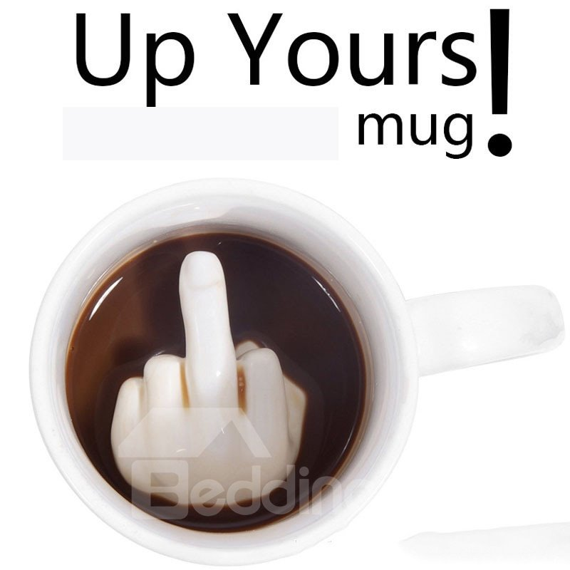 Middle Finger Inside Tea Cups Ceramic Funny Design Coffee Mugs