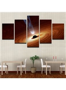 The Planets Pattern 5 Pieces Hanging Canvas Waterproof Eco-friendly Framed Wall Prints