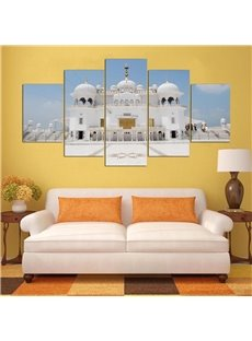 5 Pieces Islam Building Pattern Hanging Canvas Waterproof Eco-friendly Framed Wall Prints