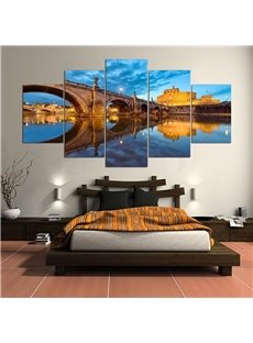 Bridge Pattern 5 Pieces Hanging Canvas Waterproof Eco-friendly Framed Wall Prints