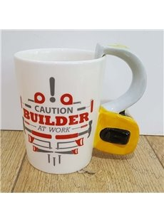 Creative Hardware Tools Yellow Tape Measure Ceramic Coffee Mug