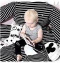 Stripe Rabbit Pattern Cotton Soft Baby Play Floor Mat/Crawling Pad