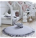 Lace Round 3 Color Cotton Soft Baby Play Floor Mat/Crawling Pad