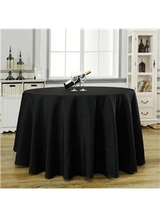 Round Shape Pure Color Fastness Simple Style Table Cloth