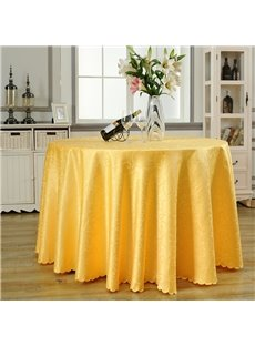 Pure Color Round Shape Simple Style Fastness Table Cloth