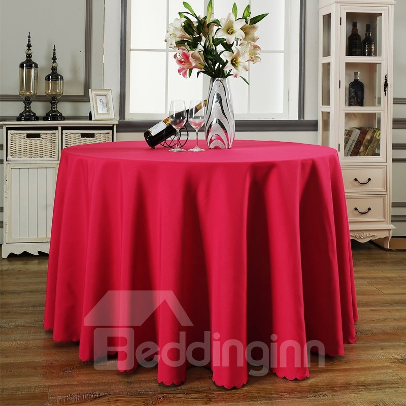 Pure Color Modern Simple Style Round Shape Table Cloth