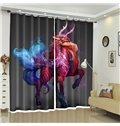The Ancient Beast Mixed Color Oil Painting Creative Curtain