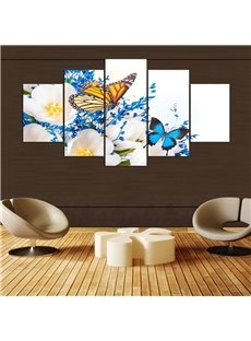 5 Pieces Hanging Canvas Dreamlike Butterfly Waterproof Eco-friendly Framed Wall Prints