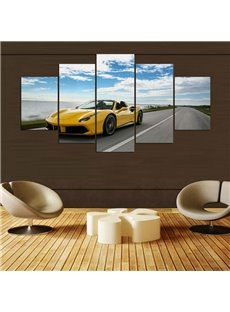 5 Pieces Hanging Canvas Car Pattern Waterproof Eco-friendly Framed Wall Prints