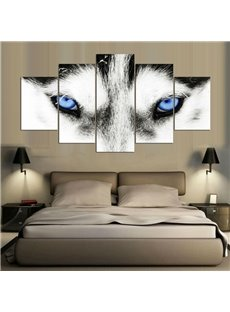 5 Pieces Hanging Canvas Smart Wolf Eye Waterproof Eco-friendly Framed Wall Prints