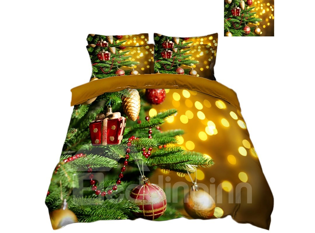 Decoration | Christmas | Bedding | Cover | Light | Print | Tree | Ball | Bed | 3D