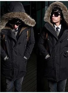 Pure Color Straight Model Mid-Length Single-Breasted Overcoat