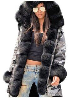 Camouflage Slim Model Long Sleeve Fall Winter Overcoat