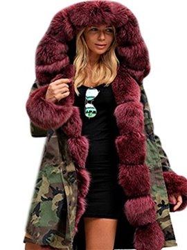 Long Sleeve Camouflage Slim Model Cotton Overcoat
