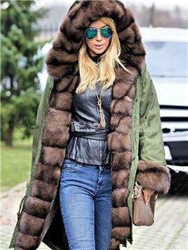 Street Style Slim Model Midi Pattern Plain Winter Overcoat