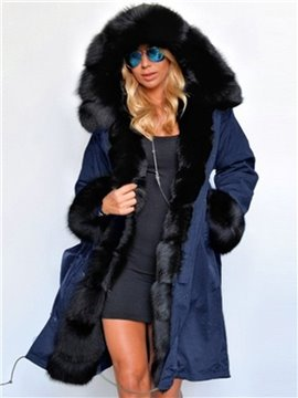 Slim Model Pure Color England Style Plain Long Overcoat