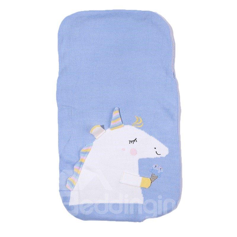 Simple Style Unicorn Pattern Acrylic Fibers Winter Baby Sleeping Bag