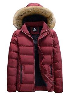 Pocket Pure Color Cardigan Zipper Slim Model Stand Collar Coat