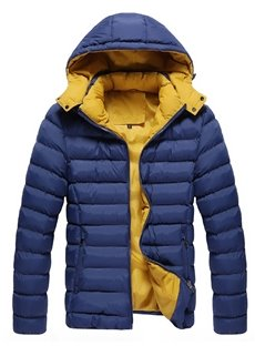 Slim Model Hooded Thicken Casual Style Zipper Down Coat
