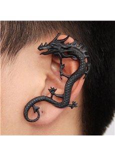 Black Dragon On Ear Ear Clip Alloy Earring