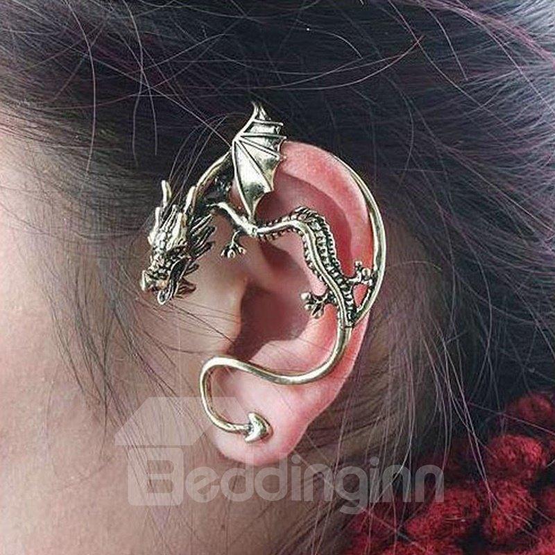 Flying Dragon On Ear Ear Clip Alloy Earring