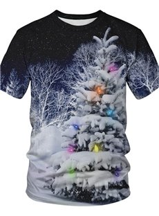Christmas Loose Model Realistic Unisex 3D T-Shirt