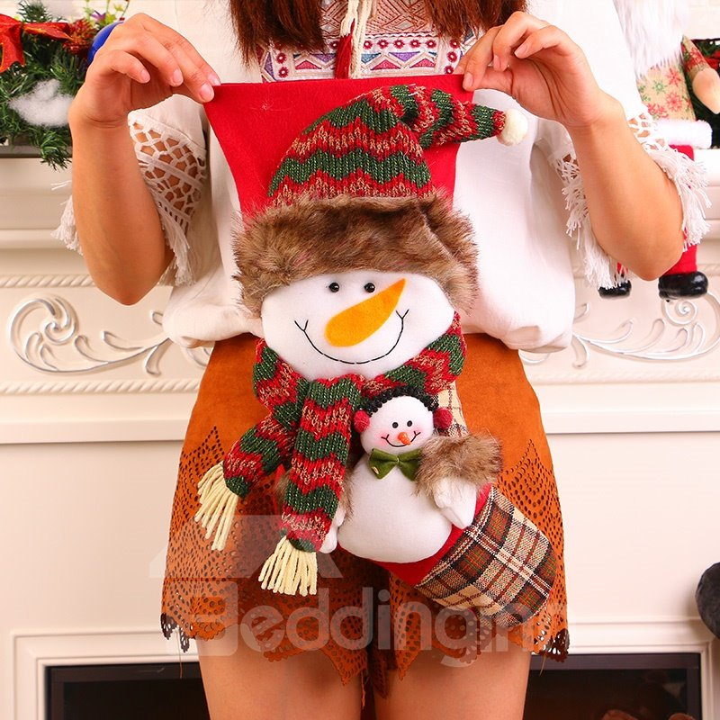 Snowman and Santa Claus Christmas Stockings Gift/Treat Bags