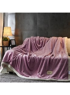 Purple and White Double Side Super Soft Fluffy Blanket