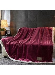 Solid Color Double Side Milk Cashmere Fluffy Blanket