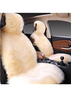 High-level Luxurious Soft Fluffy Warm Plain Plush Whole Seat Cover