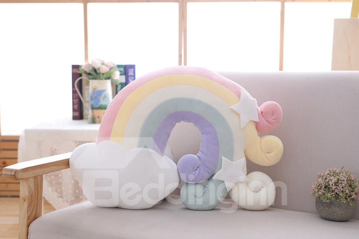 Cloud And Rainbow Shape Soft and Breathable Baby Throw Pillow/Toy