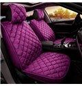 Raised Diamond Pattern Plain Seat Cover for Winter