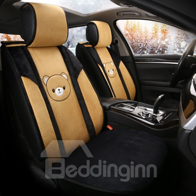 Cute Animal Soft and Warm Comfortable Suede Plain Seat Cover for Winter