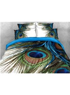 Peacocks_Gorgeous_Feathers_Printed_3D_4Piece_Bedding_SetsDuvet_Covers