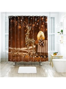 Curtains, Drapes & Valances 2019 Latest Design 3d Christmas Deer 79 Shower Curtain Waterproof Fiber Bathroom Windows Toilet