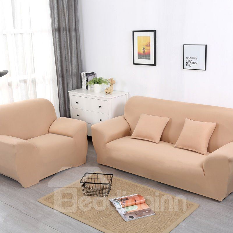 Universal Pure Color Polyester Simple Style Sofa Covers