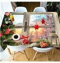 Waterproof Rectangle Christmas Polyester Printed 3D Tablecloth
