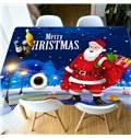 Christmas European Style Waterproof Rectangle 3D Tablecloth